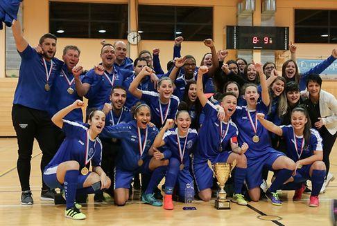 Frauenfußball: Bettemburg wieder Indoor-Meister