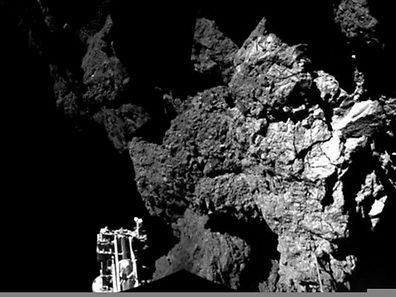 Photo prise par la sonde Philae le 13 novembre 2014