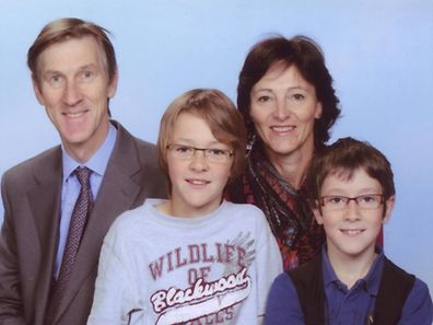 Estella Vermeulen, Andrew Hoare and their children Jasper and Friso.
