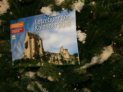 Each month of the 2016 calendar features a different castle in Luxembourg