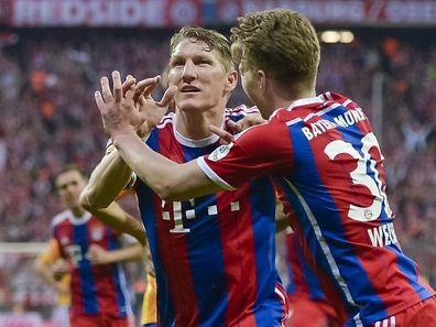 Bastian Schweinsteiger erzielte nach Vorlage von Mitchell Weiser den goldenen Treffer für den FC Bayern.