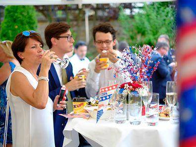Ambassade des Etats Unis,animations pour fêter American Independance Day. Foto:Gerry Huberty