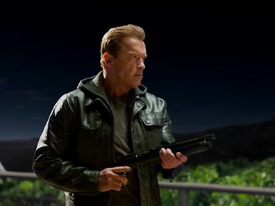 """Auch mit 67 noch fit wie ein Turnschuh, so präsentiert sich """"Arnie"""" im fünften """"Terminator""""."""