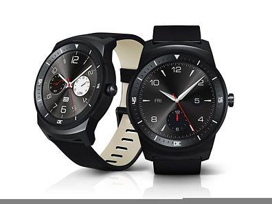 Die LG G Watch R verfügt über ein kreisrundes OLED-Display und erinnert an klassische Chronometer.
