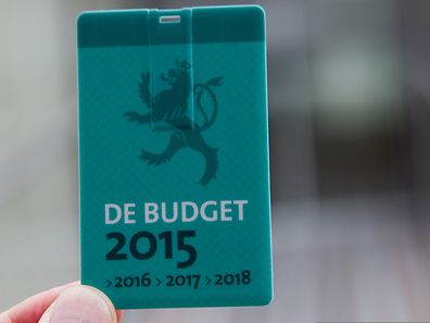 A memory card carrying the 2015 budget