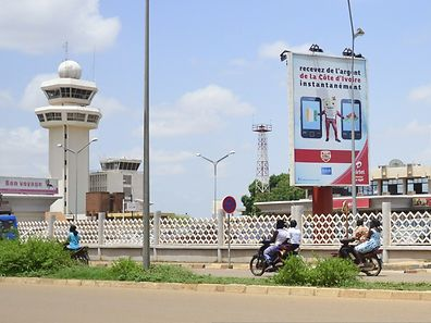 Ouagadougou airport in Burkina Faso