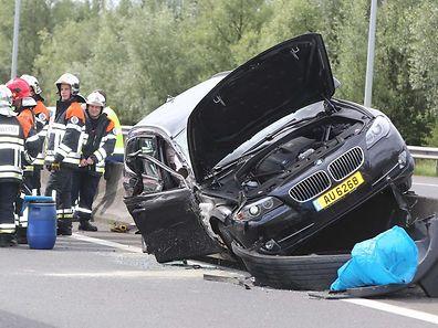 Les quatre occupants de la voitures ont été blessés.