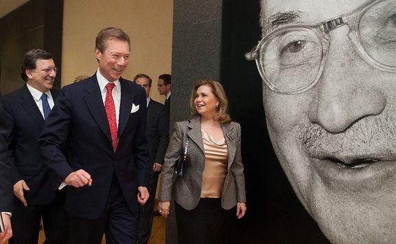 Luxembourg's Grand Duke Henri with Grand Duchess Maria-Teresa
