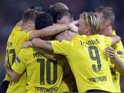 Die Dortmunder Spieler hatten allen Grund zur Freude.