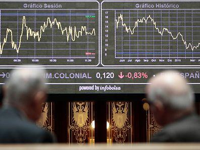 Blick in die Börse von Madrid: Die spanische Wirtschaft wächst wieder.