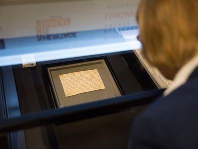Présentation d'une copie du Magna Carta, Foto Lex Kleren