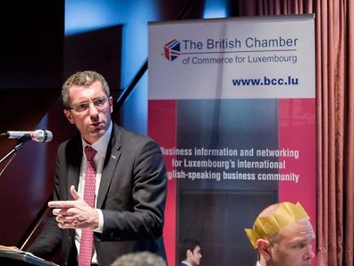 Frank Engel speaks at the BCC Christmas lunch