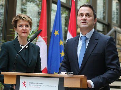 Am Donnerstag war die Bundespräsidentin der Schweizerischen Eidgenossenschaft, Simonetta Sommaruga, in Luxemburg zu Gast.