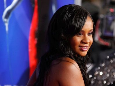 "Bobbi Kristina Brown, daughter of the late singer Whitney Houston, poses at the premiere of ""Sparkle"" in Hollywood, California"