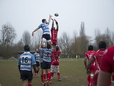 Luxembourg National Rugby team vs British Army match