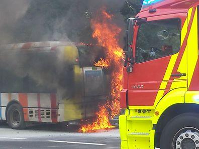 La réaction rapide du conducteur suivie de l'intervention des pompiers avaient permis d'éviter un drame