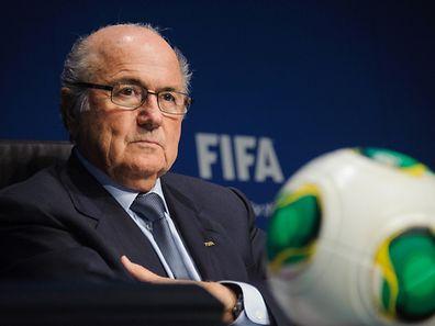 """President of  FIFA, Joseph """"Sepp"""" Blatter"""