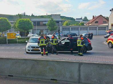 Der Unfall ereignete sich in der Route du Vin.