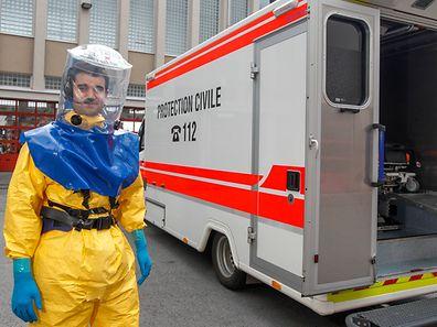 In Luxemburg gibt es spezielle Krankenwagen für Patienten mit Krankheiten wie Ebola.