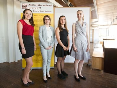 The 4 winners of the 2015 Zonta Young Woman in Public Affairs prize