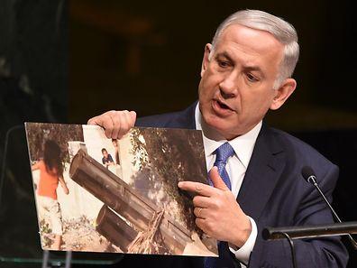 Der israelische Premier Benjamin Netanyahu hatte mit seiner Äußerung vor der UN-Vollversammlung für Aufregung gesorgt.