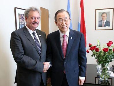 Jean Asselborn avec le Secr�taire g�n�ral des Nations Unies, Ban Ki-moon