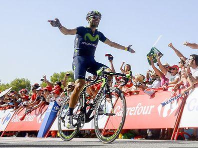 Alejandro Valverde vainqueur ce jeudi et nouveau leader de la Vuelta.