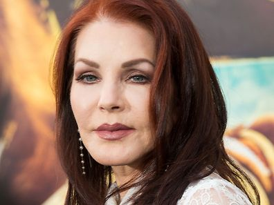 Actress Priscilla Presley attends the premiere of Warner Bros. Pictures 'Mad Max: Fury Road' at TCL Chinese Theatre, in Los Angeles, California, May 7, 2015.  AFP PHOTO / Valerie Macon