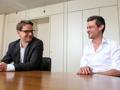 Von wegen Opposition ist Mist: Laurent Zeimet und David Wagner geben sich gut gelaunt.