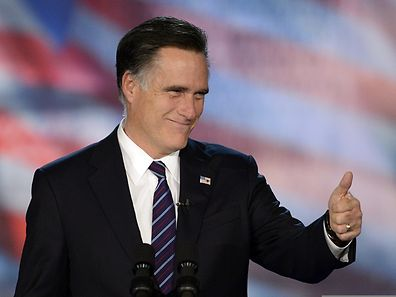 This 2012 file photo shows former US Presidential candidate Mitt Romney in Boston, Massachusetts