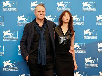 """Charlotte Gainsbourg (r.) and Stellan Skarsgard stellten """"Nymphomaniac II"""" vor."""