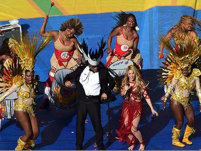"""Shakira - hier bei der Schlusszeremonie der Fußball-WM in Brasilien - hat ein """"gestohlenes"""" Lied gecovert."""