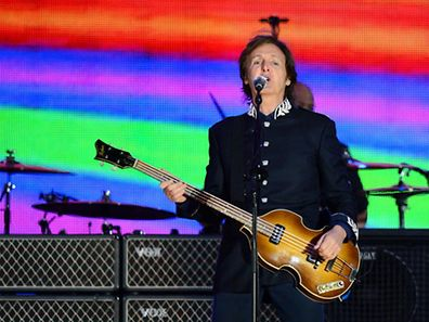 Sir Paul McCartney at the Queen's Diamond Jubilee concert in 2012
