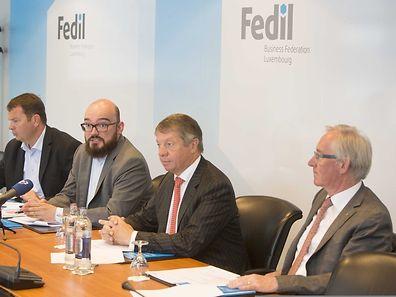 Les représentants de la Fedil: René Winkin, Henri Wagener, Robert Dennewald et Nicolas Soisson. (Photo: Steve Eastwood)
