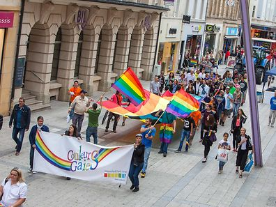 Supporters of the Gaymat Parade 2014 in Esch sur Alzette