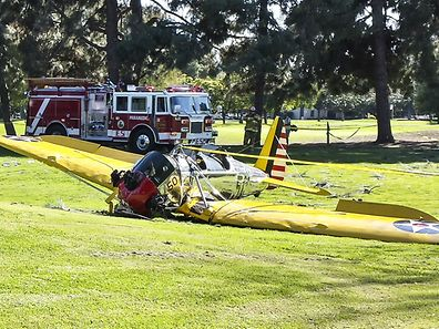 Harrison Ford crashes his vintage plane