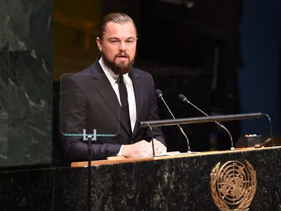 Leonardo DiCaprio speaks at the opening of the United Nations Climate Summit 2014 September 23, 2014 at the United Nations in New York.