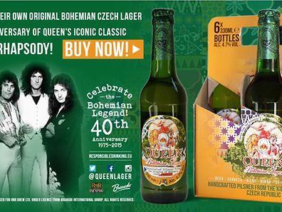 """Queen Bohemian Lager, la bière pour les 40 ans du tube de Queen """"Bohemian Rhapsody""""."""