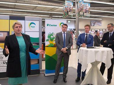A parceria foi apresentada na segunda-feira na presença do director-geral do grupo Cactus, Laurent Schonckert, e do director-geral da Post Luxembourg, Claude Strasser