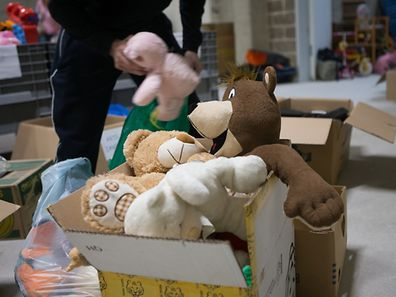 Illustration photo of toys donated for refugees