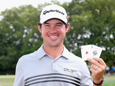 EDISON, NJ - AUGUST 30: Brian Harman of the United States poses after his round was complete after making hole-one's on both the third and 14th holes during the final round of The Barclays at Plainfield Country Club on August 30, 2015 in Edison, New Jersey.   Scott Halleran/Getty Images/AFP == FOR NEWSPAPERS, INTERNET, TELCOS & TELEVISION USE ONLY ==