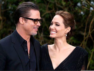 Brad Pitt und Angelina Jolie bei einer Kostüm-Ausstellung anlässlich des Films Maleficent im Frühjahr.