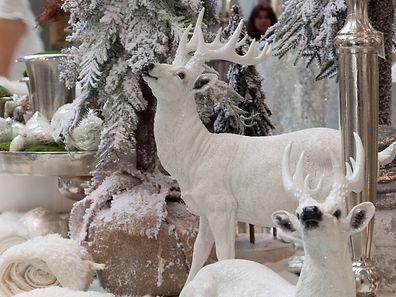 Hirsch-Figuren sind inzwischen ein Dauerbrenner in der winterlichen und weihnachtlichen Dekoration. Das bleibt auch erst mal so (aufgenommen auf der Vorjahresmesse).