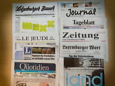 Heute übernimmt Luxemburg den Vorsitz des EU-Rates. Ein Thema für die Tagespresse.