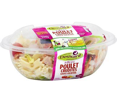 """Uma salada da marca """"Dessaint"""" que mais uma vez é retirada do mercado."""