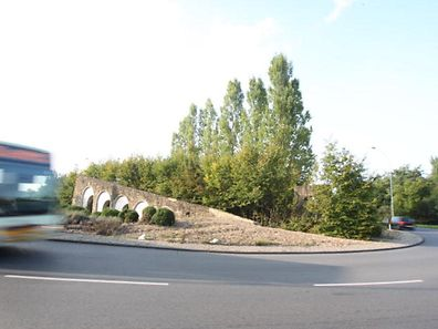 This wall on the Gluck roundabout will be removed mid-October
