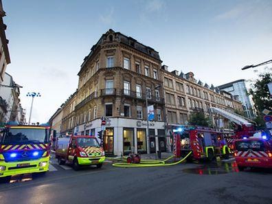 Grossbrand rue Jean Origer, Foto Lex Kleren