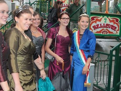 26.8.2015 Luxembourg, Ville, Glacis, Fouer, Schoueberfouer, journée de Reines 2015, reine du vin Muriel Schu   photo Anouk Antony