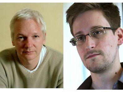 Julien Assange (left) and Edward Snowden (right)