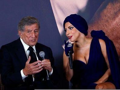 """Popstar Lady Gaga hat mit Jazz-Legende Tony Bennett das Album  """"Cheek to Cheek"""" aufgenommen. In Brüssel stellten sie es nun gemeinsam vor."""